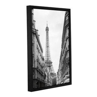 Laura Marshall's 'Eiffel Glimpse' Gallery Wrapped Floater-framed Canvas