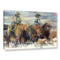 Marilyn Hageman's 'The Round Up' Gallery Wrapped Canvas