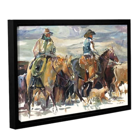 Marilyn Hageman's 'The Round Up' Gallery Wrapped Floater-framed Canvas