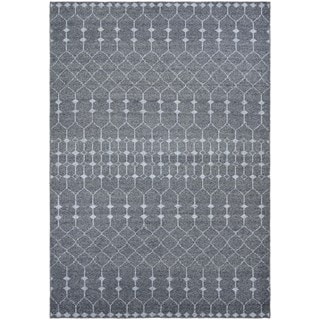 Hand-Knotted Couristan Casbah Aria/Grey-Pewter, Natural Undyed Wool Rug (2' x 4')