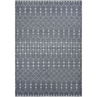 Couristan Casbah Aria Grey-Pewter Wool Rug - 2' x 4'