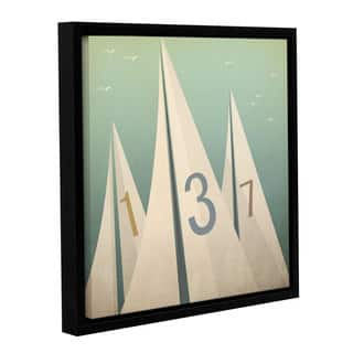 Ryan Fowler's 'Sails VII' Gallery Wrapped Floater-framed Canvas