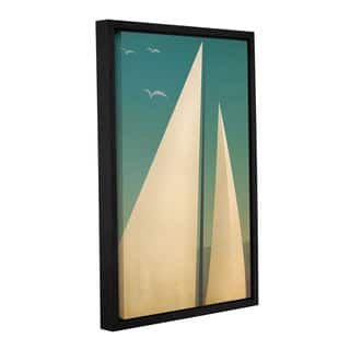 Ryan Fowler's 'Sails I' Gallery Wrapped Floater-framed Canvas