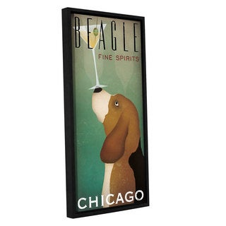 Ryan Fowler's 'Beagle Martini' Gallery Wrapped Floater-framed Canvas