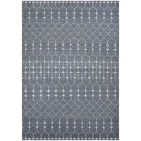 Couristan Casbah Aria Grey-Pewter Hand-Knotted Wool Area Rug - 8' x 11'