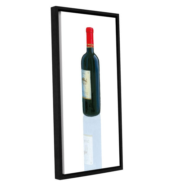 Marco Fabiano's 'Wine Stance II' Gallery Wrapped Floater-framed Canvas