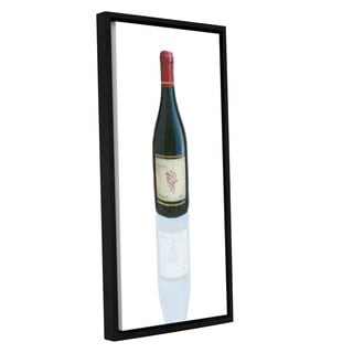 Marco Fabiano's 'Wine Stance I' Gallery Wrapped Floater-framed Canvas