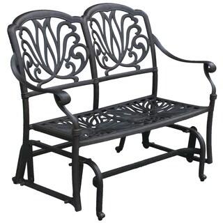 Darlee Elisabeth Cast-Aluminum Glider Bench with Seat Cushion