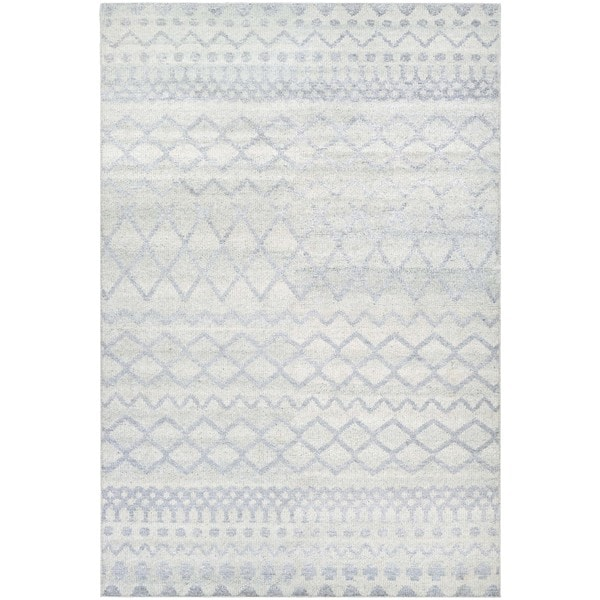 Couristan Casbah Gyro Natural-Pewter Wool Area Rug - 2' x 4'