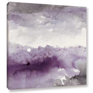 Mike Mschick's 'Midnight At The Lake II Amethst And Grey' Gallery Wrapped Canvas