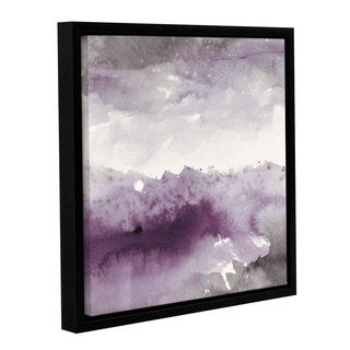 Mike Mschick's 'Midnight At The Lake II Amethst And Grey' Gallery Wrapped Floater-framed Canvas