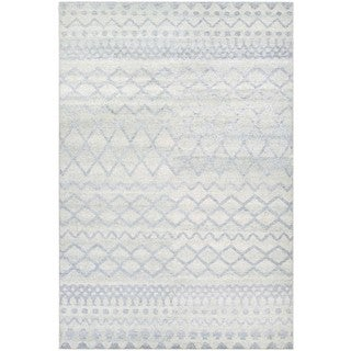 Couristan Casbah Gyro/Natural-Pewter Wool Area Rug - 3'5 x 5'5