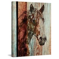 Marmont Hill - 'Orange Horse' by Irena Orlov Painting Print on Wrapped Canvas - Multi-color