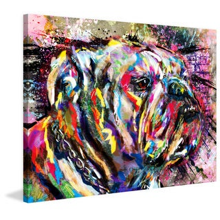 Marmont Hill - 'Bulldog Colors' by Ryan Rabbass Painting Print on Wrapped Canvas