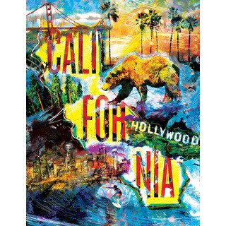 Marmont Hill - 'California Life' by Ryan Rabbass Painting Print on Wrapped Canvas