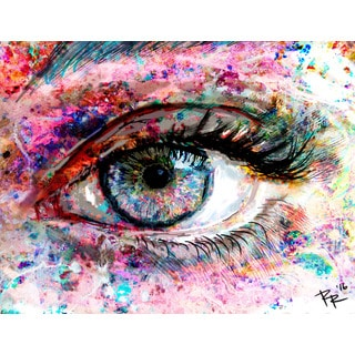 Marmont Hill Pat Spark 'Eye 2' Painting Print on Wrapped Canvas