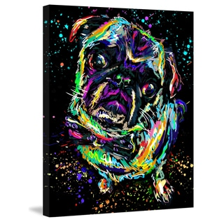 Marmont Hill Pat Spark 'Pug Tilt' Painting Print on Wrapped Canvas