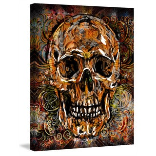 Marmont Hill Pat Spark 'Skull Swirls' Painting Print on Wrapped Canvas