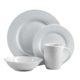 Oneida Naturally White Dinnerware 32-Pc Set Service for 8  sc 1 st  Overstock & Melange 40 Piece Italian Classic White Premium Dinnerware Place ...