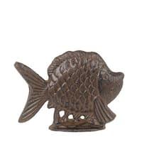 Privilege International Rust Brown Metal Fish Figurine