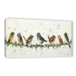 Ninalee Irani's 'Holiday Birds On A Line' Gallery Wrapped Canvas