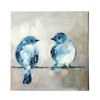 Jeco 'Two Birds' Gallery-wrapped Canvas Wall Art