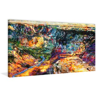 Marmont Hill - 'Grand Canyon' by Ryan Rabbass Painting Print on Wrapped Canvas