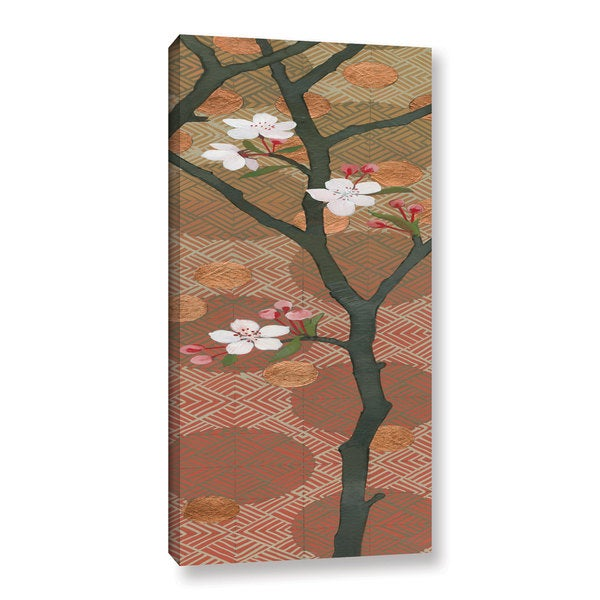 Katherine Lovell's 'Cherry Blossoms Panel II Crop' Gallery Wrapped Canvas