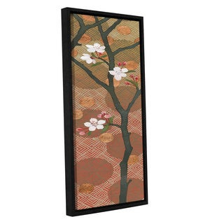 Katherine Lovell's 'Cherry Blossoms Panel II Crop' Gallery Wrapped Floater-framed Canvas