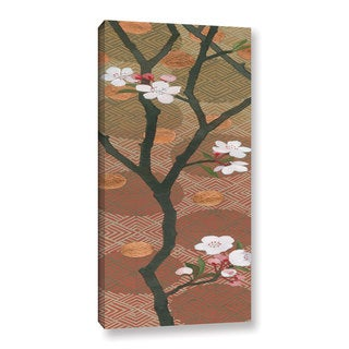 Katherine Lovell's 'Cherry Blossoms Panel I Crop' Gallery Wrapped Canvas