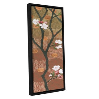 Katherine Lovell's 'Cherry Blossoms Panel I Crop' Gallery Wrapped Floater-framed Canvas