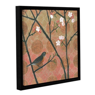 Katherine Lovell's 'Cherry Blossoms II' Gallery Wrapped Floater-framed Canvas