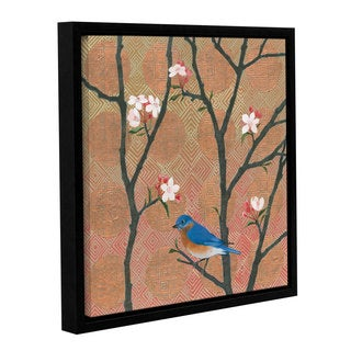 Katherine Lovell's 'Cherry Blossoms I' Gallery Wrapped Floater-framed Canvas