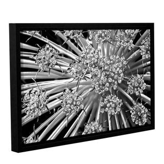 Jennifer Beavers's 'Light Kisses S Series Queen Anne's 'Lace' Gallery Wrapped Floater-framed Canvas