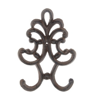 Privilege International Rust Brown Metal Decorative Wall Hook