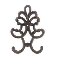 Privilege International Rust Brown Metal Decorative Wall Hook