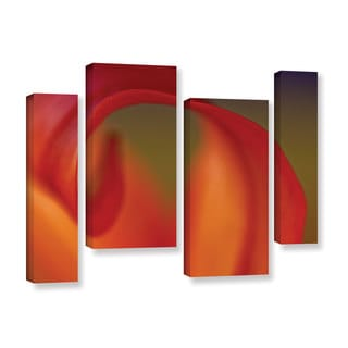 Jennifer Beavers's 'Lily Haze C Series' 4 Piece Gallery Wrapped Canvas Staggered Set