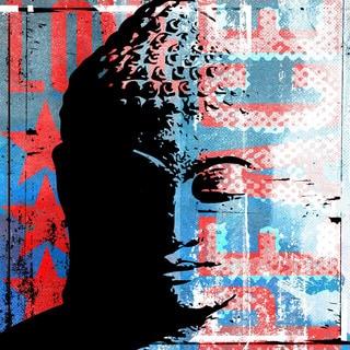 Marmont Hill - 'Buddha Graffiti' by Rick Martin Painting Print on Wrapped Canvas