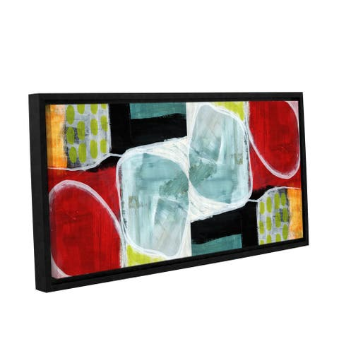 Linda Woods's 'Intersection 372' Gallery Wrapped Floater-framed Canvas