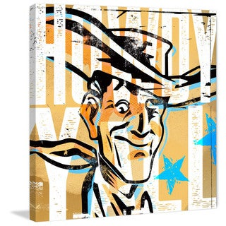Marmont Hill - 'Howdy Yall Vic' by Rick Martin Painting Print on Wrapped Canvas