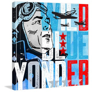 Marmont Hill - 'Wild Blue Yonder Pilot' by Rick Martin Painting Print on Wrapped Canvas