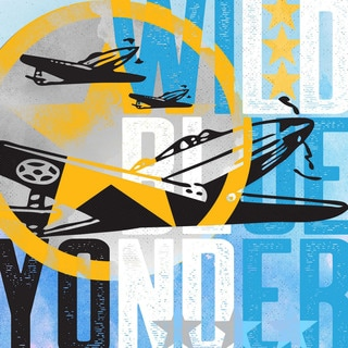Marmont Hill - 'Wild Blue Yonder Planes' by Rick Martin Painting Print on Wrapped Canvas