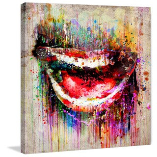 Marmont Hill Pat Spark 'Open Smile' Painting Print on Wrapped Canvas