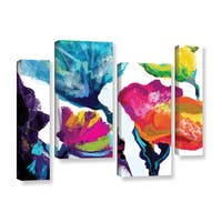 Chandler CChase's 'Colorsplash' 4 Piece Gallery Wrapped Canvas Staggered Set