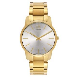 Calvin Klein Yellow Goldplated Stainless Steel Swiss Quartz Men's Watch