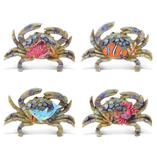 Puzzled Resin Crab Rockstone Refrigerator Magnet (Pack of 4)