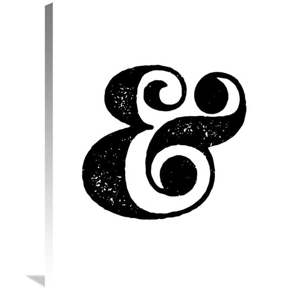 Shop Naxart Studio Ampersand Poster White Giclee On Stretched