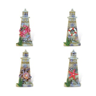 Puzzled Lighthouse Rockstone Resin Refrigerator Magnets (Pack of 4)