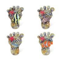 Puzzled Foot Refrigerator Rockstone Magnets (Pack of 4)