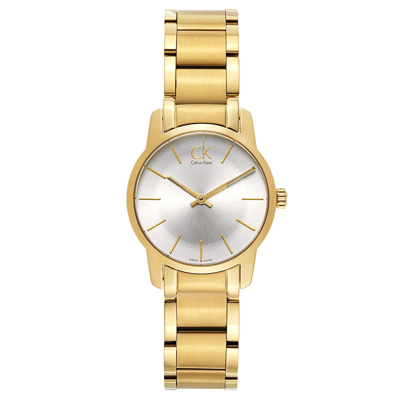 Calvin Klein Gold Luxury Watch (Watch), Women's, Silver-T...